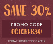 Save with promo code OCTOBER30